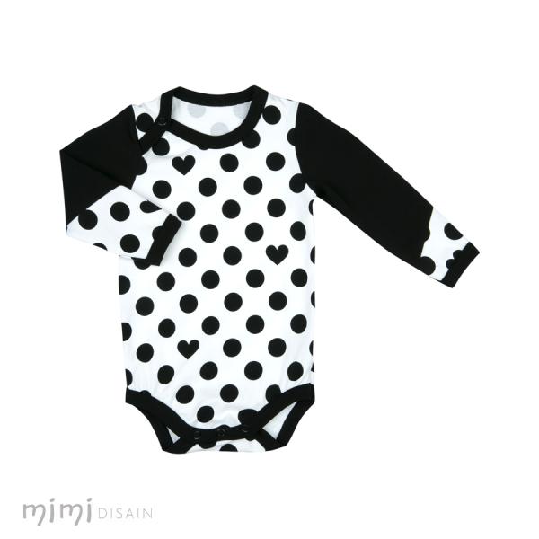 Mimi Body Long Sleeve Black Dots