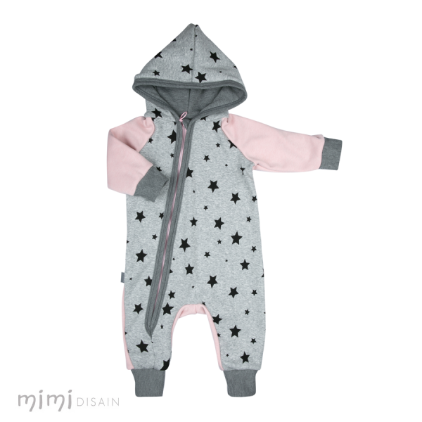 Mimi Jumpsuit Grey Star/ Pink