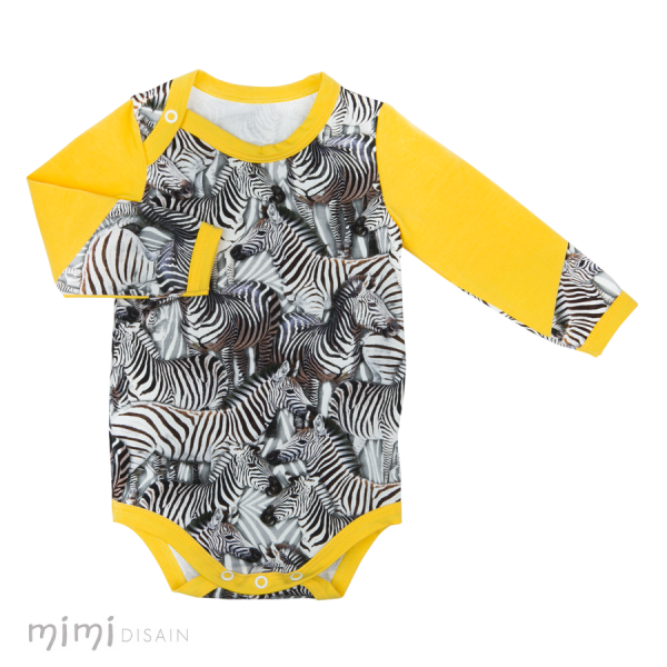 Mimi Body Long Sleeves Zebra Yellow