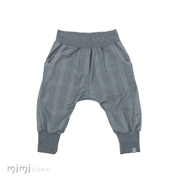 Mimi Baggies Grey Black Plaid