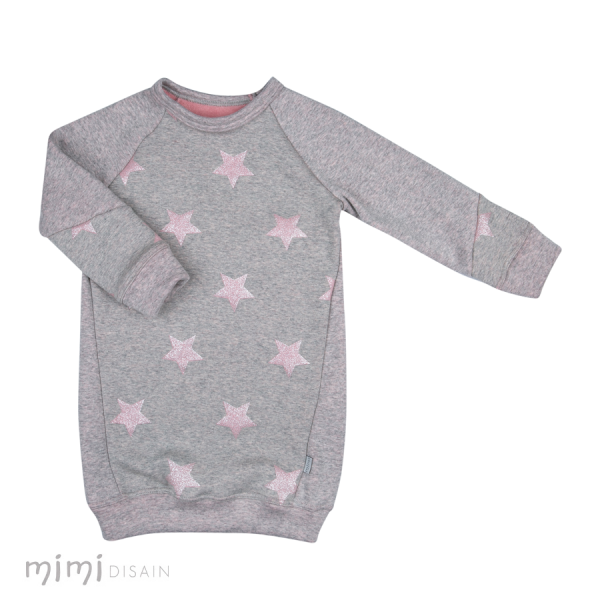 Mimi Jumper Dress Pink Star