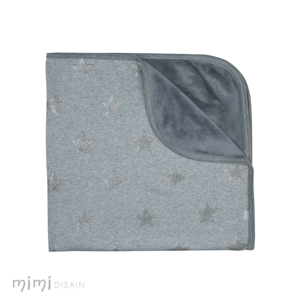 Mimi Baby Blanket Grey Star