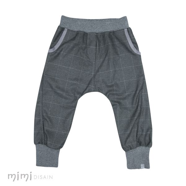 Mimi Baggies Dark Grey Plaid