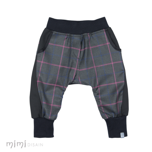 Mimi Baggies Black Pink Stripe