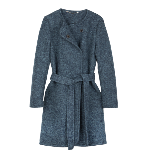 Mimi Womens Wool Coat Blue