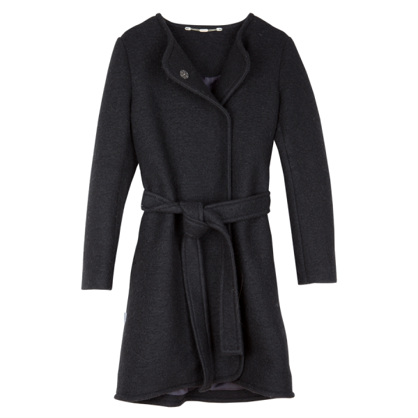 Mimi Womens Coat Wool Black