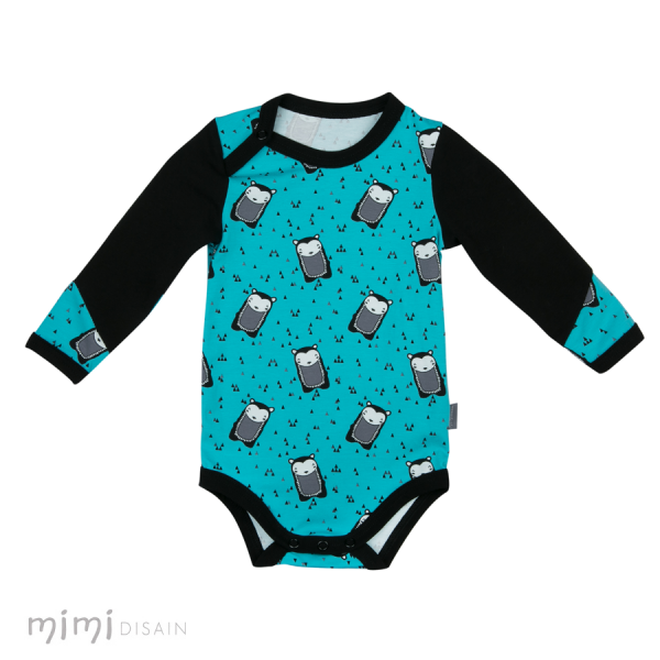 Mimi Body Long Sleeves Hedgehog Blue