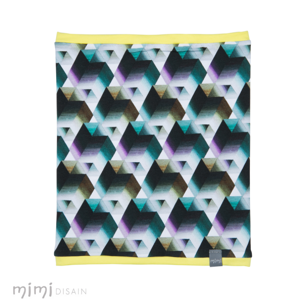 Mimi Tube Scarf Rhombus Yellow