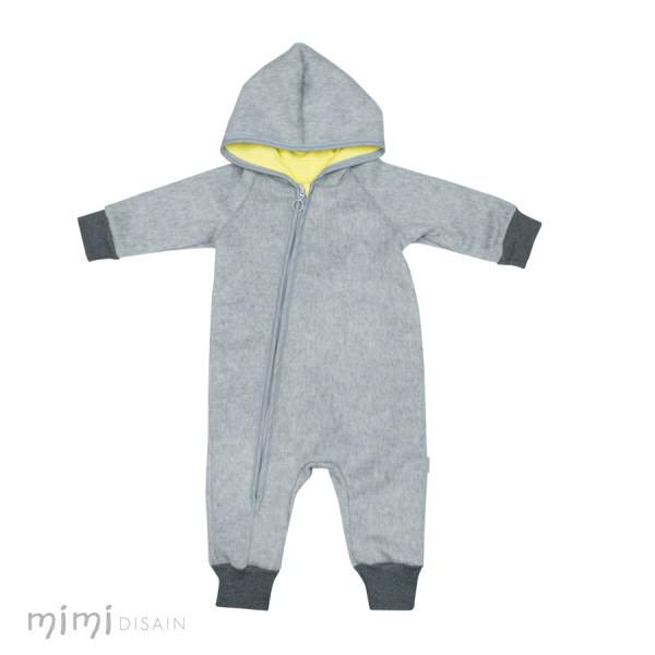 Mimi Wool Jumpsuit Grey/Yellow