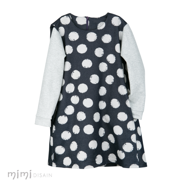 Mimi Dress Dark Blue Dots