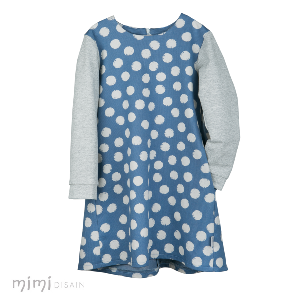 Mimi Dress Light Blue Dots