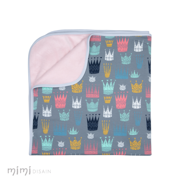 Mimi Baby Blanket Crown  Pink