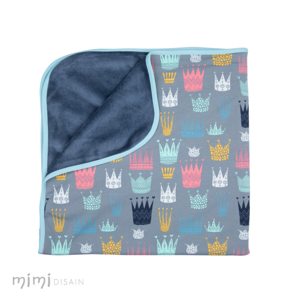 Mimi Baby Blanket Crown Blue