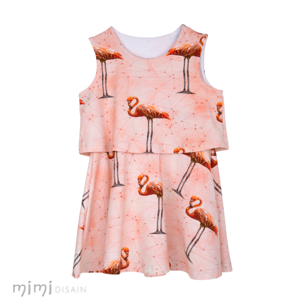 Mimi Dress Kelly Flamingo