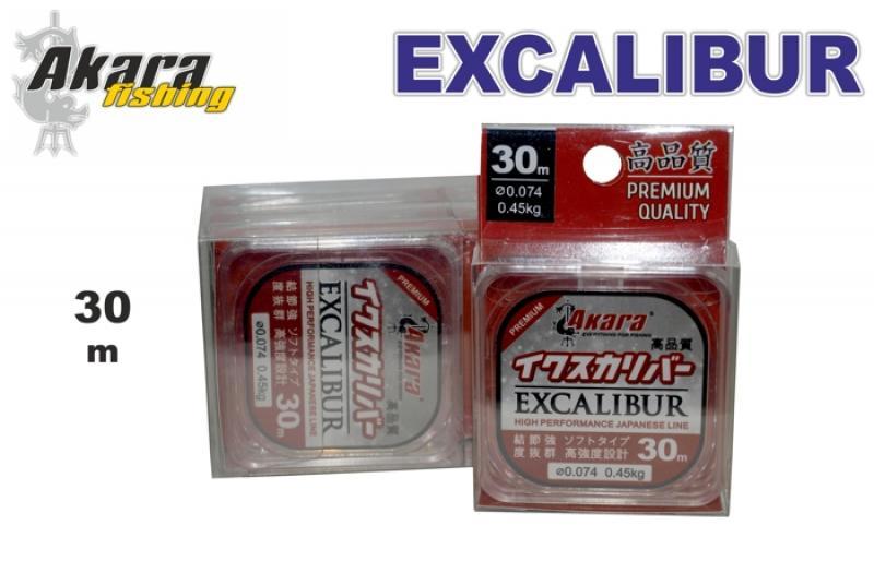 Леска AKARA Excalibur Premium Quality 30m 0,105