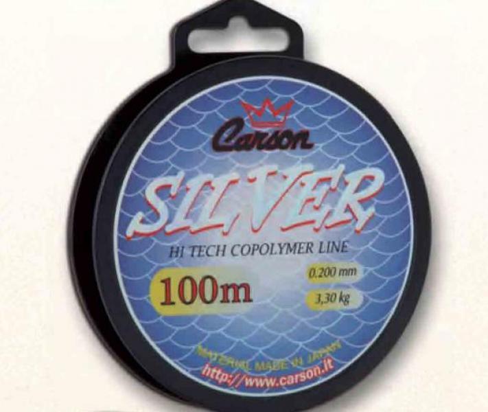 Леска CARSON Silver 0,30mm 6,2kg 100m