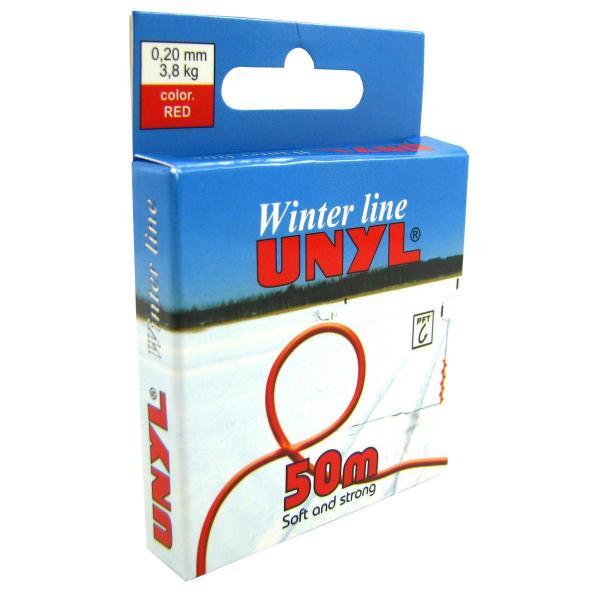 Леска UNYL Winter Line красный 50m 0,20mm 3,8kg