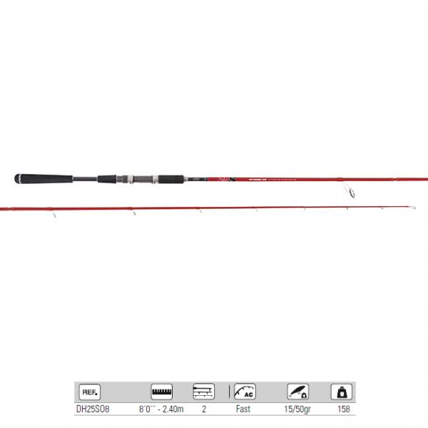 "Fishing rod HART 25S Offshore 8"" 2,40m 15-50g 2sec."