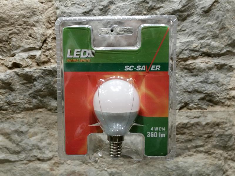 Led-lamp G45 PALL 4W, E14 - 360lm