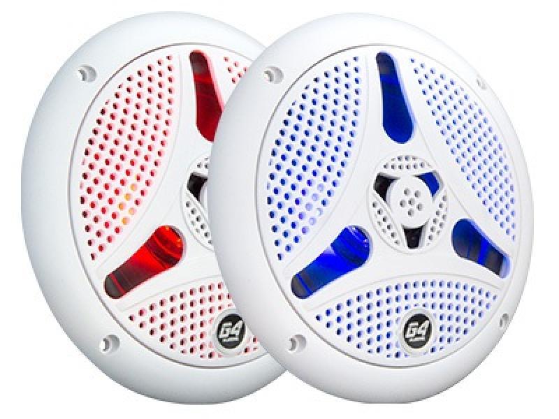 """Bluetooth-kõlaripaar ilmastikukindlad, valge  -  6,5"""" 2-way"""