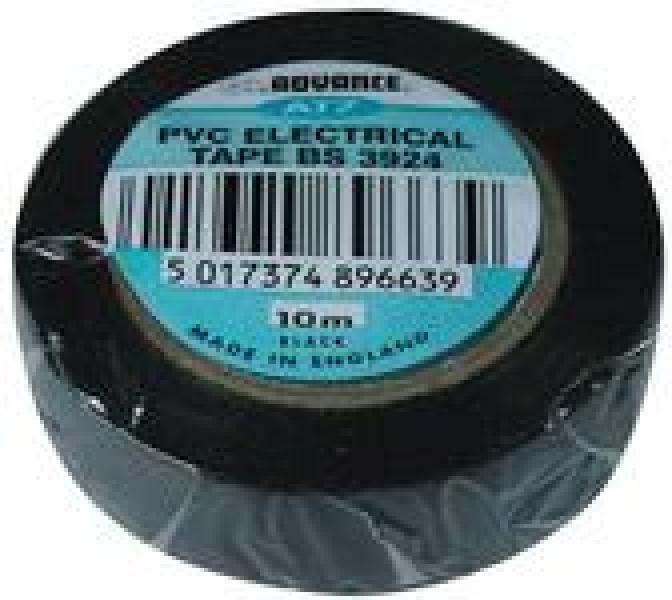 Elektriku teip, must, laius 15mm, 10m rullil