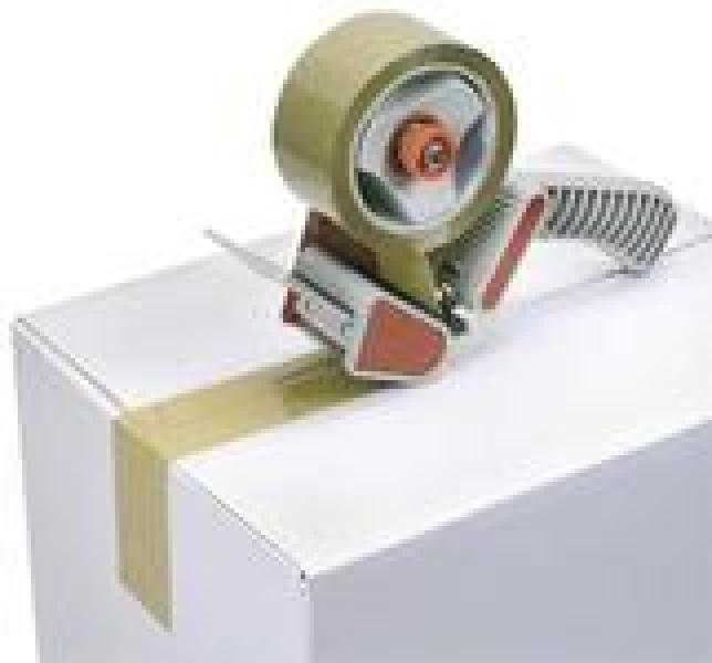 Adhesive tape for 50mm roll, with handle
