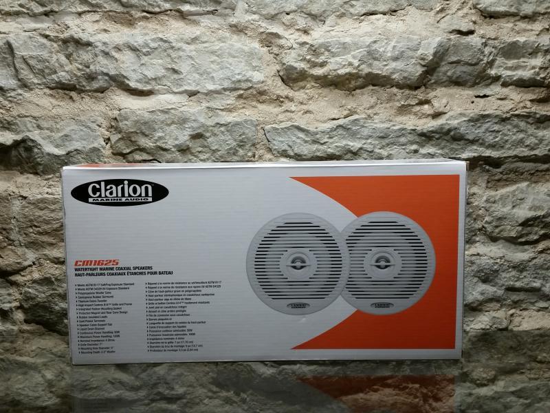 Kõlarid 16.5cm, 2-ribalised, MARINE, MAX 100W, niiskuskindlad, Clarion 2tk