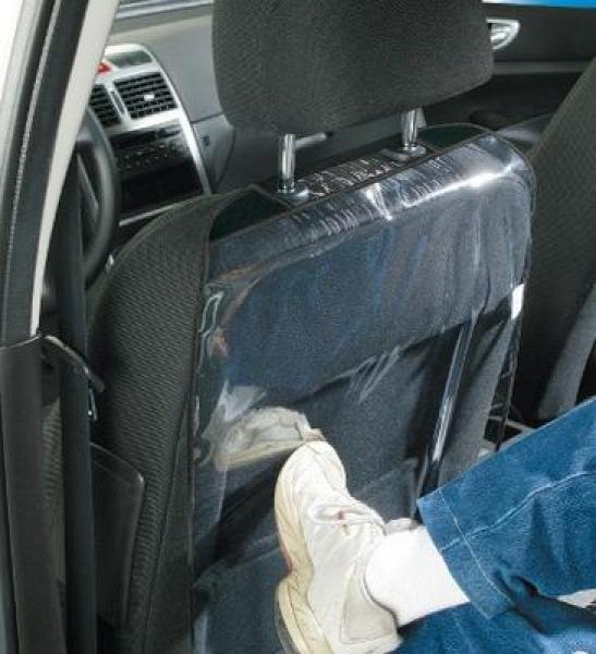 Seat backrest protection transparent
