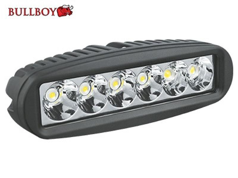 Led work light 12-32V 18W 6X3W CREE 1260lm black Bullboy
