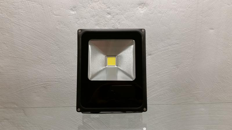LED floodlight 30W thin black
