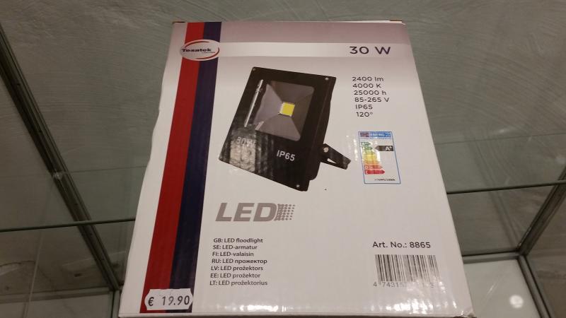LED prožektor 30W õhuke must