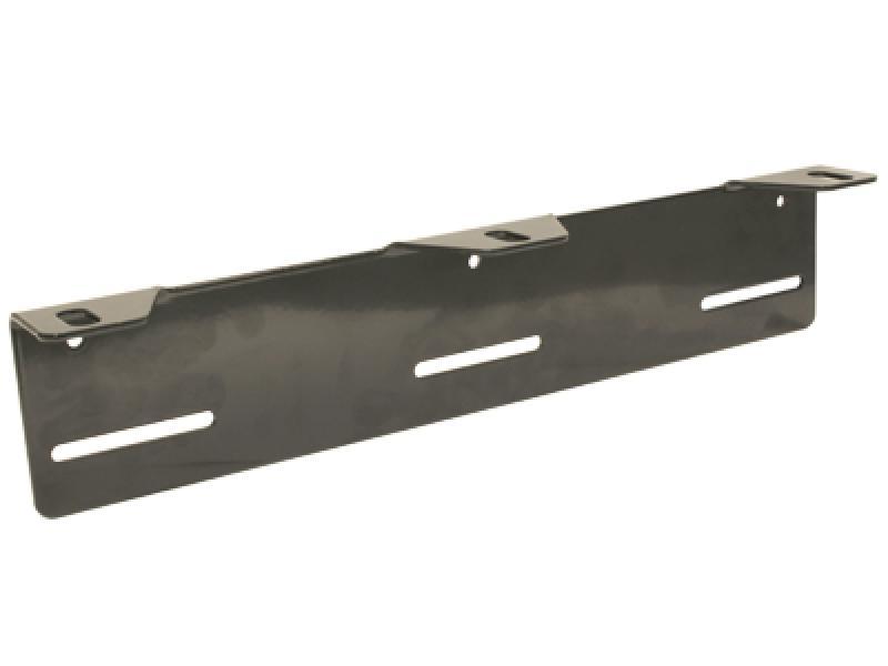 Lisatulede kinnituskronstein numbrimärgi taha, kolmele tulele, värvitud mustaks. HD mudel, paksus 3mm.