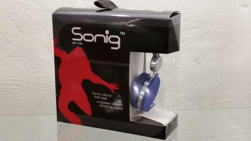 Sonig kõrvaklapid Music sinised