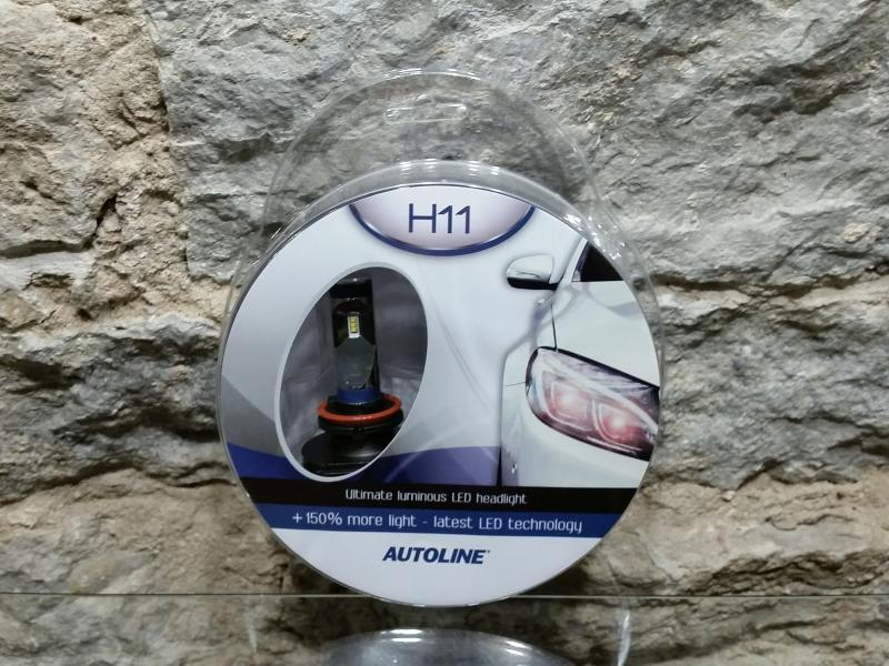 Autopirn H11 Led, 25W, 12-24V, 6000K AUTOLINE