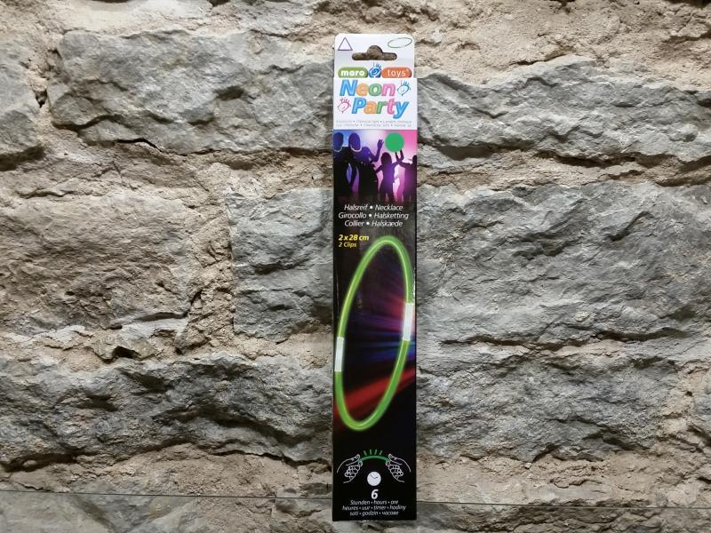 Helendav kaelakee roheline, 28cm, 2tk, helendamise aeg 6h