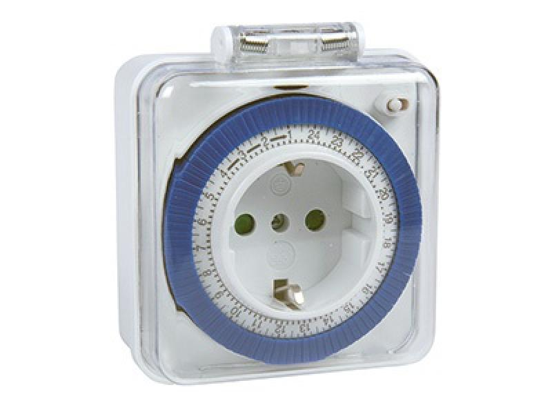 Taimer 24h, välja, 220-240V, max. 16A/3500W, C-PWR, IP44, töötemperatuur -40 - +55ºC
