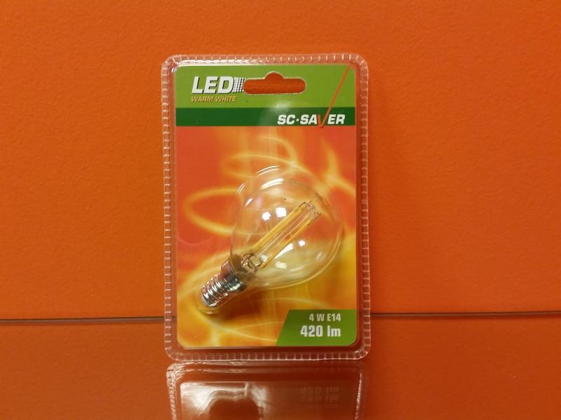 Lambipirn LED filament G45 4W 420lm E14