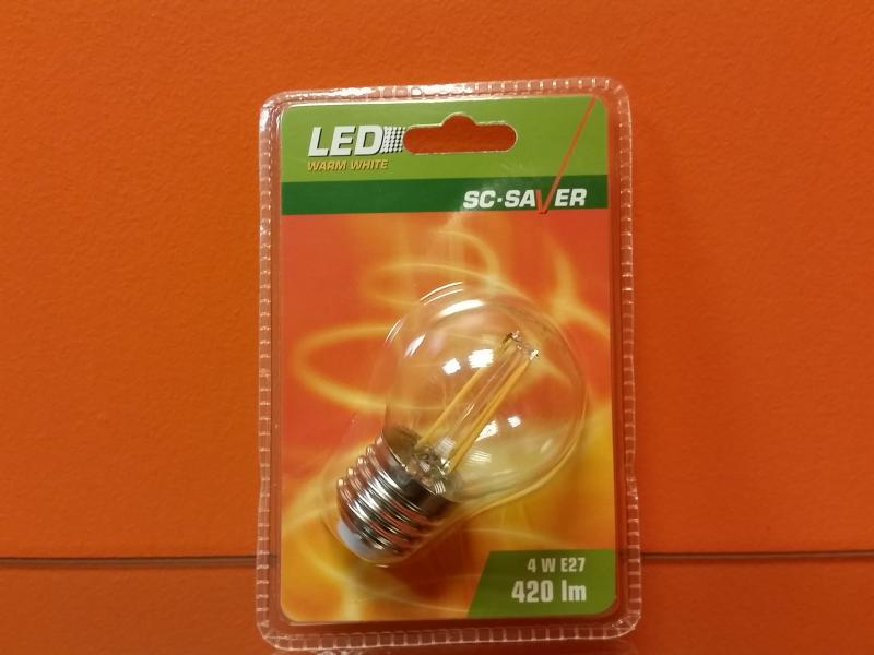 Lambipirn Led filament G45 4W 420lm E27