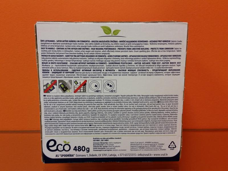 Tabletid nõudepesumasinale 30tk SEAL ECO