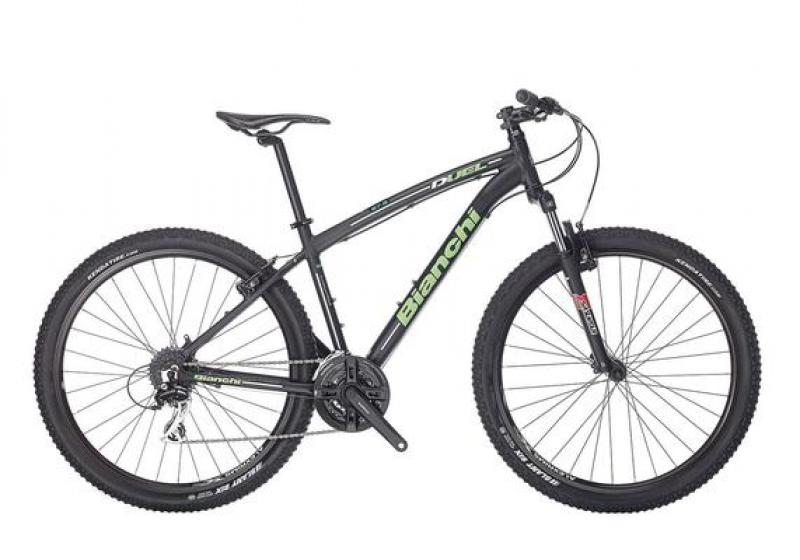 Jalgratas Bianchi Duel 27.2, 43cm must/roheline