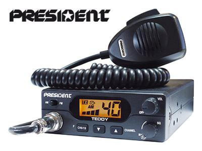 CB-raadiojaam President Teddy, 40 kanalit AM/FM, võimsus 4W