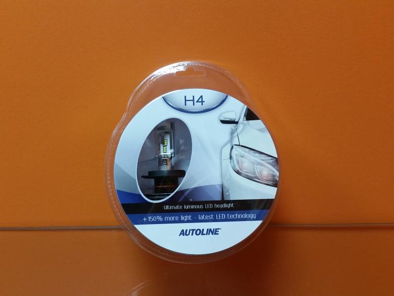 Autopirn H4 LED 12-24V, 25W/25W 6000K
