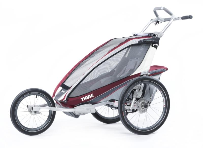 Lastekäru CX1+Cycle,Burgundy 14- THULE