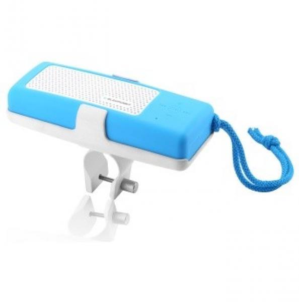 Kaasaskantav BTS10BL bluetooth NFC kõlar jalgratta kinnitus / lamp koos akupangaga