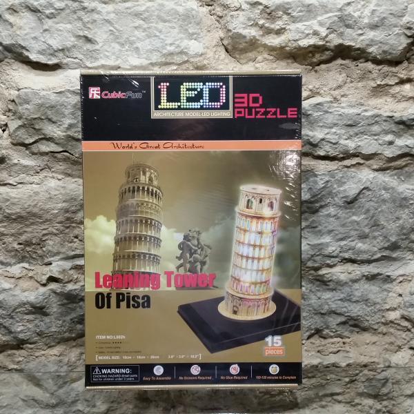 3D pusle Pisa Torn led valgustusega