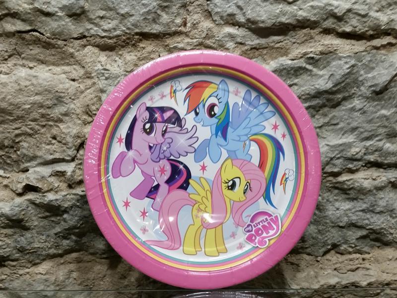 Papptaldrikud 23cm 8tk Little Pony