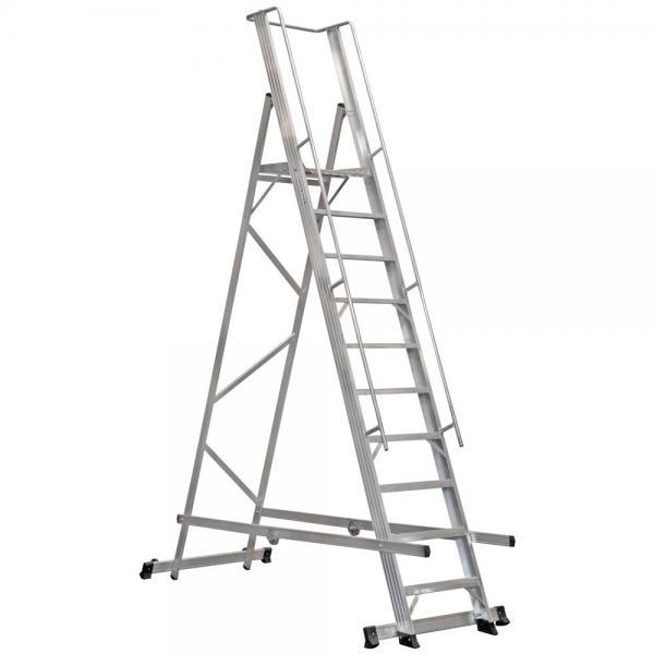 9+1 Step Folding Platform Ladder