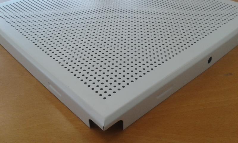 Alumiinium laeplaat 30x30cm (0,4mm+värvitud+perf./clip in)
