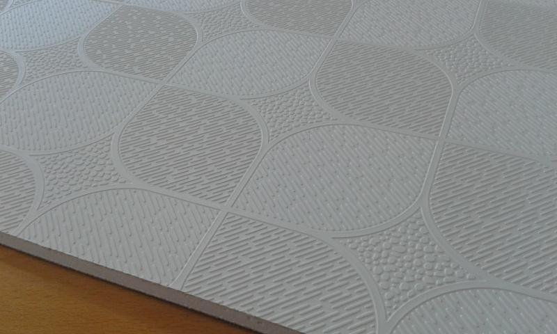 PVC'ga kaetud kipsplaat  60x60x0,8cm (küre beyaz)