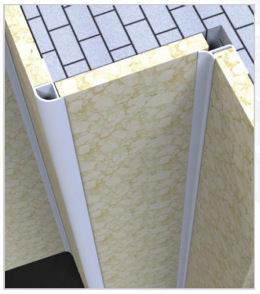 10 MM PVC sisenurgaliist 270cm ( Kohv )